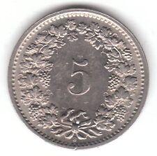 Suiza 5 Rappen 1969 moneda de cobre-níquel-Helvetia