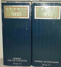 Aramis 900 Herbal Eau de Cologne 50ml + GIFT Aftershave 50ml Vintage New & Rare