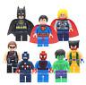 Lot de 8 Mini figurines d'action jeux de construction Marvel Superhéro Toy Figur