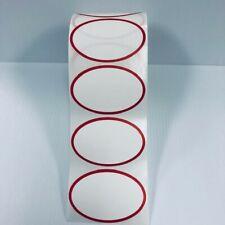Thermal Transfer Red Oval Border 1000 Labels 3 Core Zebra Datamax Printers