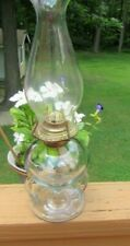 Antique Mid-Size Ripley & Co Double Handled Oil Kerosene Lamp 1868 Square Stem