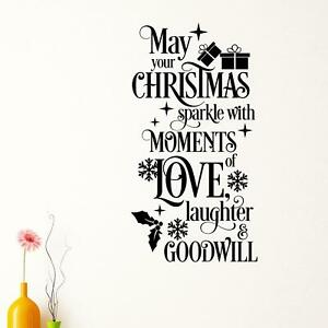 May You Christmas Sparkle With Moments Love Laughter & Goodwill Wall Sticker