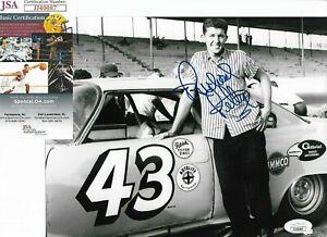 No Hat? Old Time BW ~Richard Petty~ Signed NASCAR 8x10 Photo JSA Race Car Driver