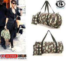 LADIES MEN RETRO DUFFLE BAG ARMY MILITARY HANDBAG GYM SCHOOL TRAVEL CAMPING TOTE