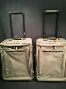 2- Hartmann Luggage Transit Collection Expandable His & Hers Wheels Garment Bag
