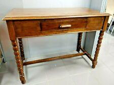 More details for antique wooden desk. barley twist leg single drawer