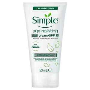 Simple Regeneration - Age Resisting Moisturising Day Cream 50ml, SPF15