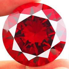 Ein Paar 10 mm rund facettiert Oberseite - rot Cubic Zirkonia Edelsteine