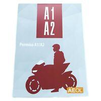 Libro manual permiso A1 A2 Carnet de Moto por libre 9 temas y test Valmoni AEOL
