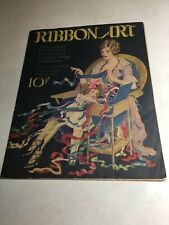 Ribbon Art Paper Back Instruction Book Vintage Crafts Lace