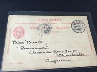 Switzerland Grand Hotel 1898 to England used stamps card  Ref R28454