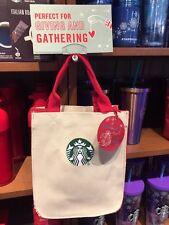 Starbucks 2017 Siren Logo Christmas White Tote Bag / Handbag - THAILAND -No Card