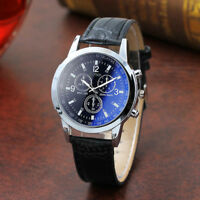 Fashion Men's Watch Faux Leather Belt Sport Quartz Hour Analog Wrist Watches New