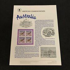 Australia Usps American Commemorative Panels Stamps Mint Og Nh Ac493