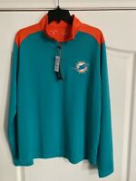 NWT Antigua Golf M NFL Football Pullover 1/3 Zip