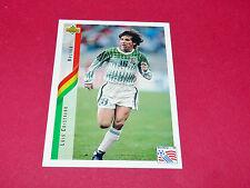 LUIS CRISTALDO BOLIVIA FIFA WC FOOTBALL CARD UPPER USA 94 PANINI 1994 WM94