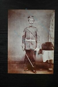 Military Photo Print King's Shropshire Light Infantry Sergeant with Pillbox Hat