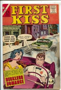 First Kiss #30 1963-Charlton-besy cover of the series-sports car police chase...