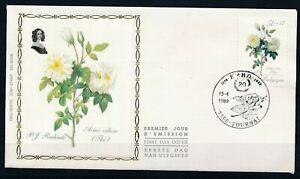 [1845] Belgium 1989 Flowers good FDC very nice