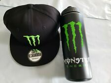 Monster Energy New Era 9Fifty Athlete Snapback Hat Cap & Water Bottle **NEW**