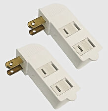 2 Pc  3-Outlet Grounded AC Wall Plug Power Tap Splitter 2-Way Electric Adapter