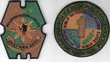 Philippines National Police PNP & Region One Police Office Patches