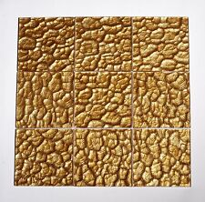 10 SQFT Glass Tiles on Mesh Mount Pharaoh Gold I - FREE SHIP IN USA