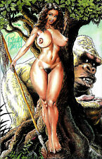 CAVEWOMAN PANGAEAN SEA #11 INTERNET EXCLUSIVE NUDE Signed by BUDD ROOT NM RARE