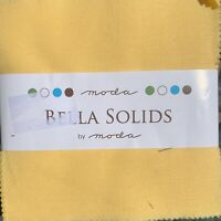 Moda Fabrics Bella Solids 1930s Colours Charm Pack. 42 five inch squares