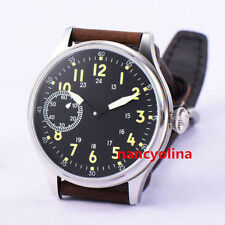 Corgeut 44mm Super Luminous hand winding unitas 6497 Movement Mens Watch