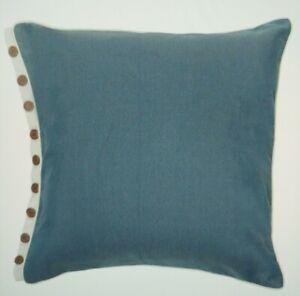 Croscill NEW SILAS Blue & Cream European Pillow Sham MSRP $49.99