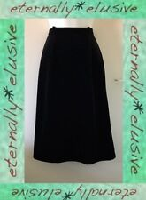 DEBENHAMS Vintage Velour Velvet Calf Length High Waisted Pencil Skirt Size 8 W27