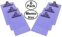 """Acrimet Clipboard Memo Size ( 9 1/8"""" x 6 1/4"""" ) Premium Metal Clip (Plastic)"""