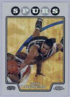 2008 Topps Chrome Tim Duncan #21 Refractor San Antonio Spurs HOF 2008-09