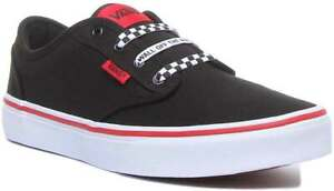 Vans Atwood Youth Canvas Trainer In Black White Size UK 3 - 6