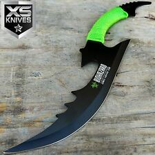 BIOHAZARD 15 Inch Full Tang Fixed Blade Zombie Hunting Knife w/ Sheath