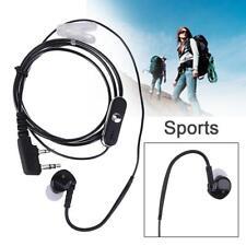 2Pin Sports Earpiece Noise Cancel Headset w/ PTT MIC For BAOFENG Retevis Radios