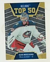 2019-20 Upper Deck Allure  TOP 50 T50-44 ELVIS MERZLIKINS RC Rookie Blue Jackets
