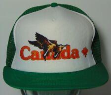 Old Vintage 1980s CANADA CANADIAN GOOSE GEESE BIRDS SNAPBACK TRUCKER HAT CAP