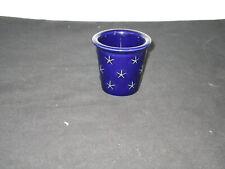 Longaberger Pottery Proudly American Votive Candle Holder Blue
