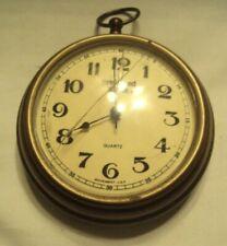 "Preferred Stock Quartz Brass wall clock'''Wo rking""''Mov ement,Usa"