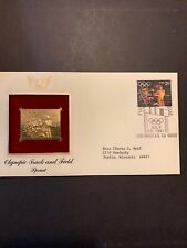 1991 - OLYMPIC TRACK & FIELD (Sprint).  Gold Replica FDC (by PCS).  Addressed