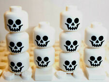 Lego Skeleton Head x 10 White for Minifigure