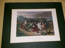 Murder of Archbishop Sharpe William Allan Hand Tinted Engraving Mounted 19thC