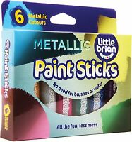 Little Brian LBPS10MA6 Metallic Colours Paint Sticks  Pack of 6
