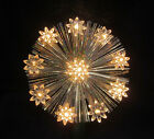 Vtg Halo Iridescent Christmas Tree Topper FLOWERS 10 Light Fiber Optic Tree Top