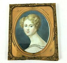 Miniature Oil Painting Emanuel Thomas Peter 1799-1873 Portrait of young woman