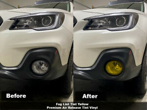 Crux Moto Fog Light Tint Yellow Air Release fits 2015 - 2019 Subaru Outback