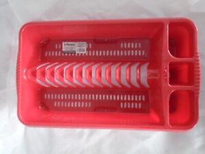 WHAM Plastic medium Dish Drainer Red