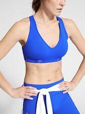 NWT Athleta Be Bold Wrap Front Bra, Bristol Blue SIZE S     #776971  v830